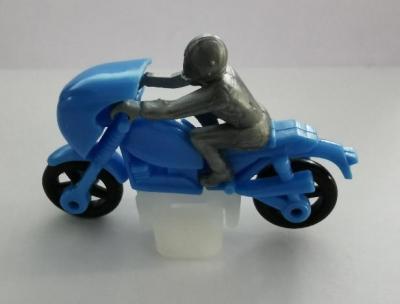 Kinder ancien moto bleu 1986