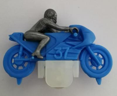 Kinder ancien moto n 37 bleu 1984
