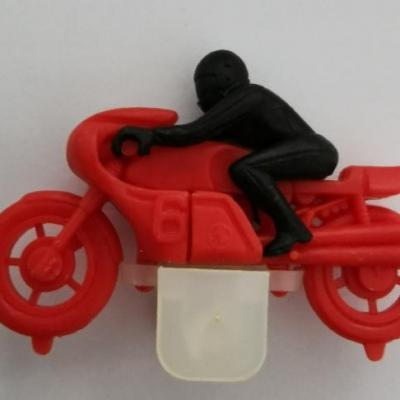 Kinder ancien moto n 6 rouge 1984