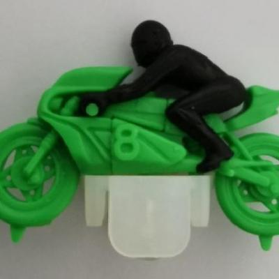 Kinder ancien moto n 8 vert 1984