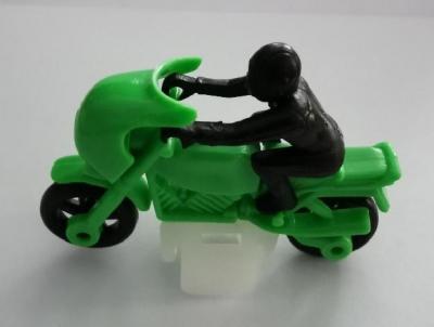 Kinder ancien moto vert 1986