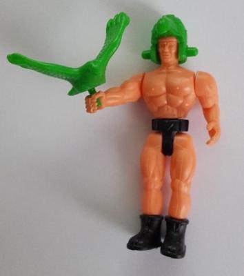 Kinder montable guerrier avec aigle vert